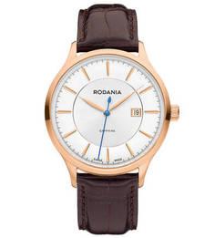Часы с широким кожаным ремешком Rodania