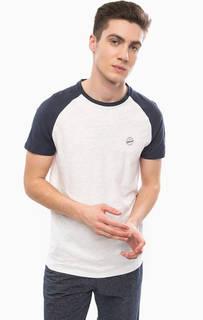 Белая хлопковая футболка Tom Tailor Denim