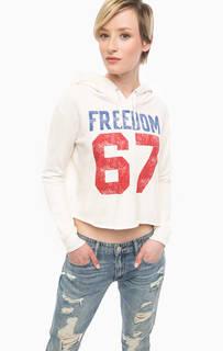Толстовка молочного цвета с капюшоном D&S Ralph Lauren