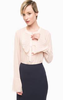 Трикотажная блуза на пуговицах Pois