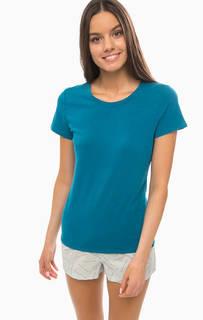 Комплект из хлопковых футболки и шорт Calvin Klein