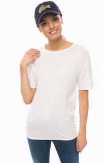 Белая футболка оверсайз Lacoste