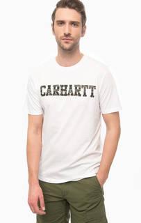 Белая футболка из хлопка с принтом Carhartt WIP