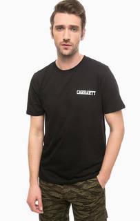 Хлопковая футболка черного цвета Carhartt WIP