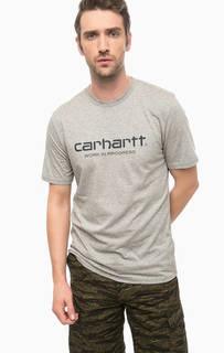Хлопковая футболка серого цвета Carhartt WIP