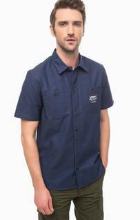 Плотная синяя рубашка с нагрудными карманами Carhartt WIP