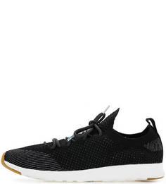 Черные текстильные кроссовки на шнуровке Native