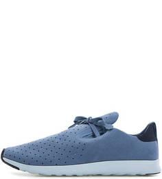 Синие кроссовки с перфорацией Native