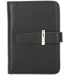 Кожаное портмоне черного цвета Maisonque