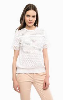 Хлопковая блуза с ажурной вышивкой River Woods