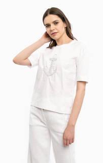 Белая футболка с нашивкой River Woods