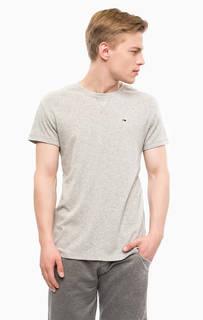 Однотонная футболка с круглым вырезом Hilfiger Denim