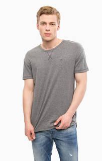 Однотонная футболка с короткими рукавами Hilfiger Denim