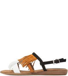 Замшевые сандалии с бахромой Unisa