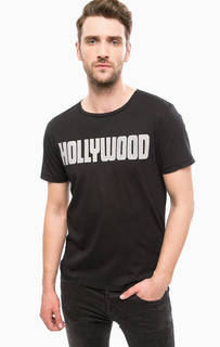 Черная футболка с металлическим декором Replay