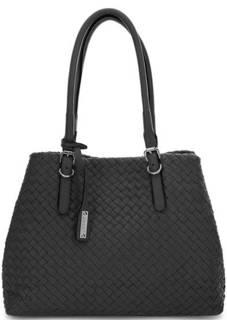 Плетеная кожаная сумка с длинными ручками Abro