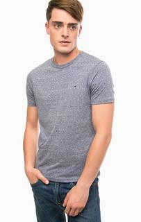 Синяя футболка с круглым вырезом Hilfiger Denim