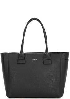 Черная сумка из мягкой кожи с одним отделом Furla