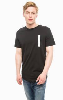 Черная хлопковая футболка Jack & Jones
