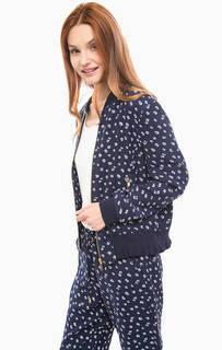 Легкая синяя куртка с цветочным принтом Michael Michael Kors