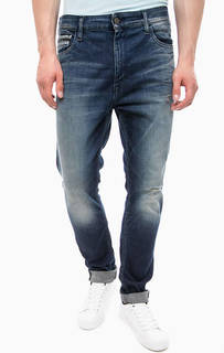Рваные джинсы с заломами Calvin Klein Jeans