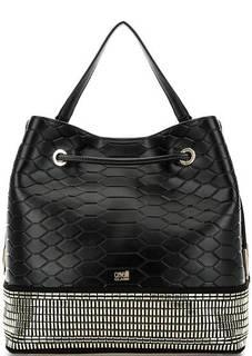 Черная сумка-торба с одним отделом Cavalli Class