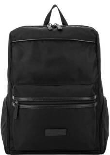 Черный текстильный рюкзак с карманами Lancaster