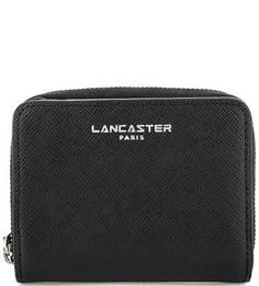 Черный кошелек из сафьяновой кожи Lancaster