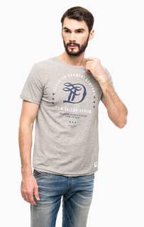 Хлопковая футболка с короткими рукавами Tom Tailor Denim