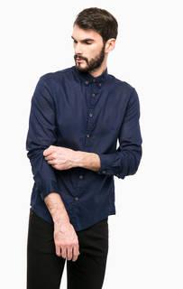 Хлопковая рубашка с длинными рукавами Tom Tailor Denim
