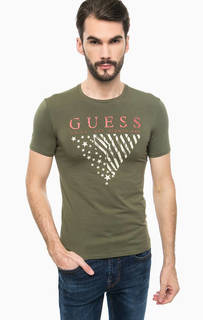Хлопковая футболка с короткими рукавами Guess