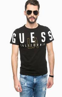 Черная футболка с круглым вырезом Guess