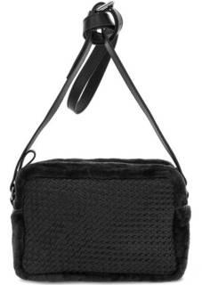 Черная сумка на молнии через плечо Io Pelle