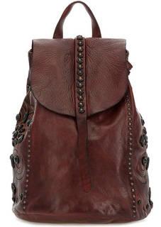 Бордовый рюкзак из натуральной кожи Campomaggi