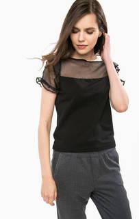 Укороченная футболка с шелковой нашивкой Liu Jo