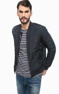Утепленная куртка-бомбер синего цвета Hilfiger Denim