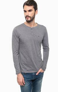 Синяя футболка с длинными рукавами Hilfiger Denim