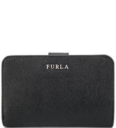 Черный кошелек из сафьяновой кожи Furla