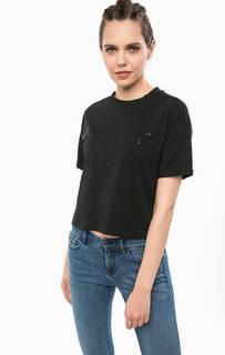 Укороченная футболка с принтом Calvin Klein Jeans