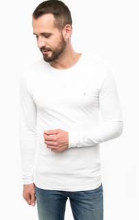 Базовая белая футболка с длинными рукавами Calvin Klein Jeans