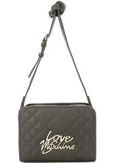 Стеганая сумка с металлической отделкой Love Moschino