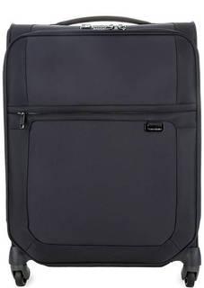 Синий текстильный чемодан на колесах Samsonite