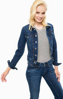 Джинсовая куртка с застежкой на болты Pepe Jeans