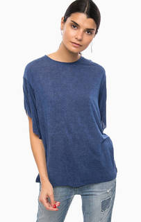 Синяя футболка из вискозы Diesel