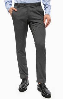 Серые зауженные брюки с карманами Cinque