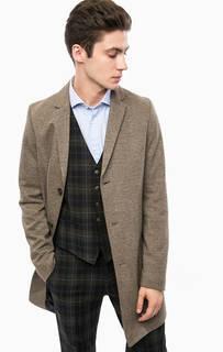 Коричневое пальто на пуговицах Cinque