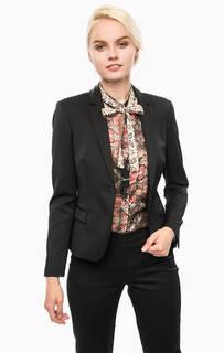 Черный приталенный пиджак в горошек Cinque