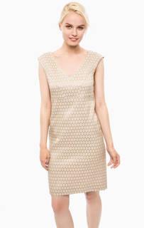 Бежевое платье без рукавов Cinque