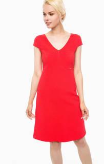 Красное платье с короткими рукавами Cinque