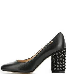 Кожаные туфли с замшевыми каблуками Liu Jo